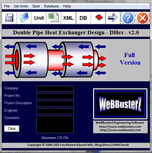 Double Pipe Heat Exchanger Design (DHex) Screenshot