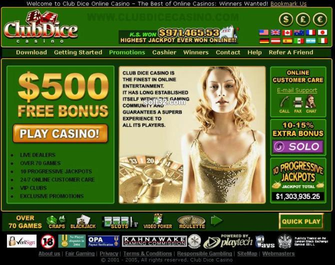 !!! $500 CLUB DICE CASINO 2006 Screenshot 3