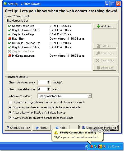 SiteUp Screenshot 2