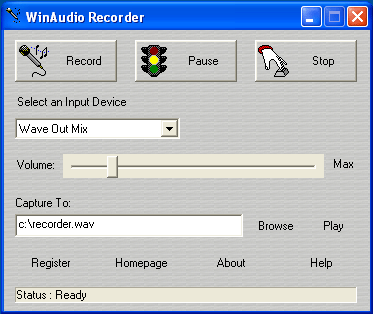 Win Audio Recorder Screenshot