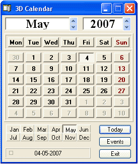 Calendar Screenshot 1
