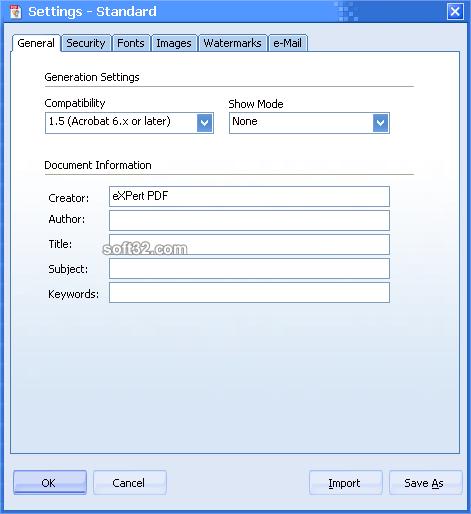 eXPert PDF Standard Edition Screenshot 3