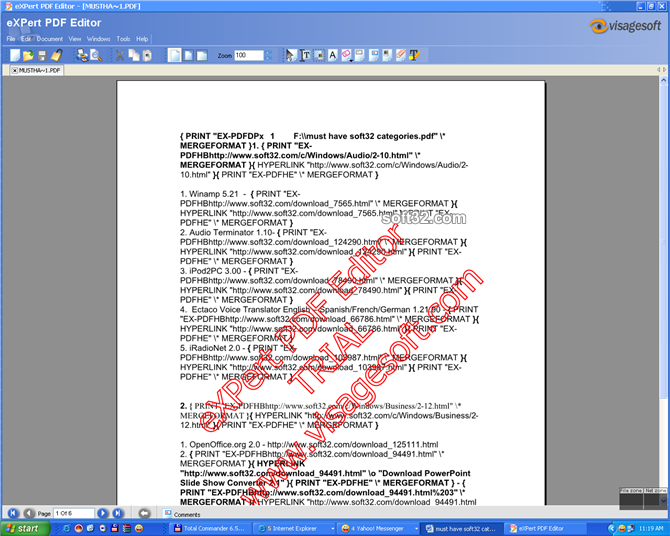 eXPert PDF Standard Edition Screenshot