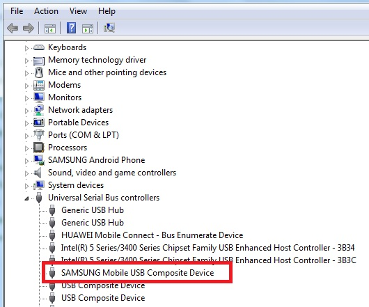 Samsung Mobile USB Device 1.0 Screenshot 2
