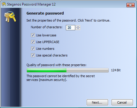 Steganos Password Manager Screenshot 2