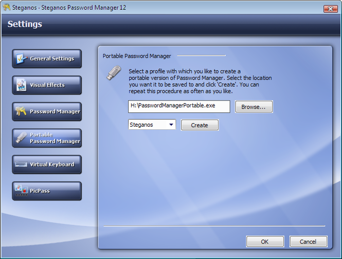 Steganos Password Manager Screenshot 3