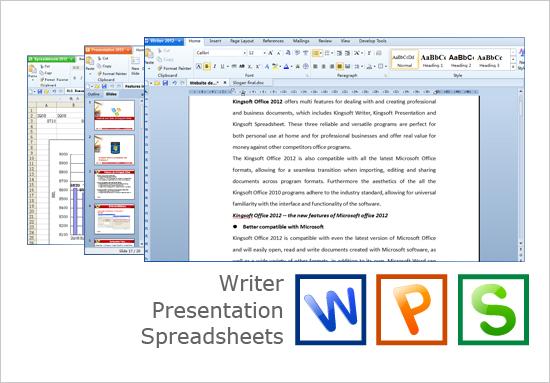 Kingsoft Office Suite Professional 2012 Screenshot 1