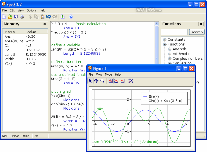SpeQ Mathematics Screenshot 2