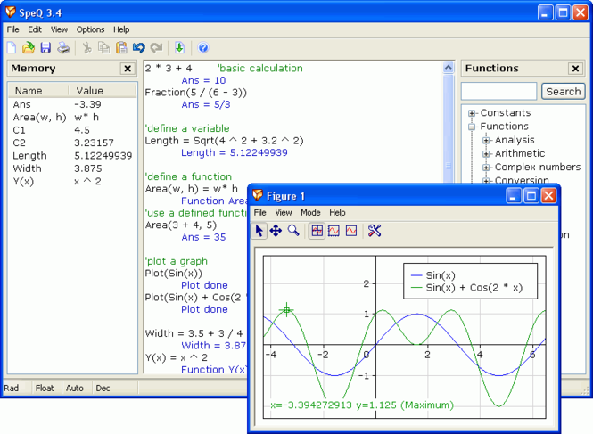 SpeQ Mathematics Screenshot