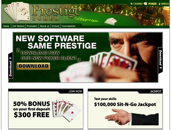 300$ PRESTIGE POKER DELUXE Screenshot