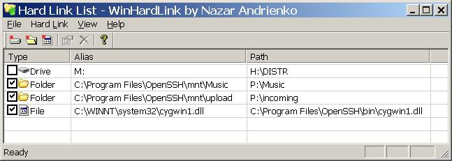 WinHardLink Screenshot