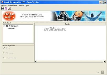 Quick Recovery for Novell Netware NSS Screenshot 1