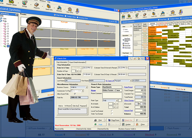 ASI FrontDesk Hotel Software Screenshot