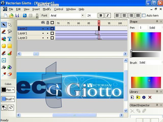 Vectorian Giotto - Flash Animation Tool Screenshot 2