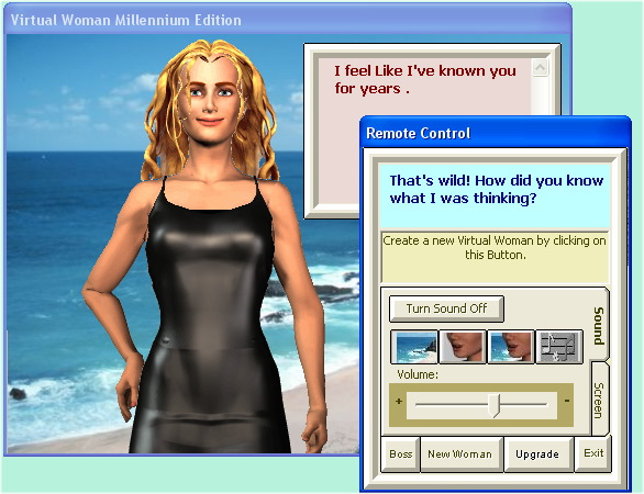 Virtual Woman Millennium Beta Test Screenshot