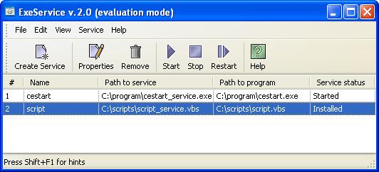 Exe To Service Screenshot