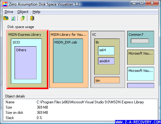Z.A. Disk Space Visualizer Screenshot 2