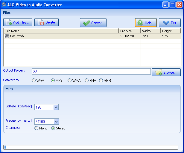 ALO Video to Audio Converter Screenshot