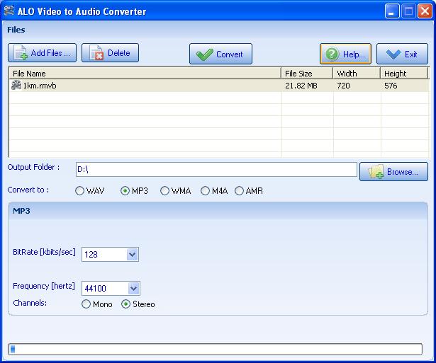 ALO Video to Audio Converter Screenshot 1