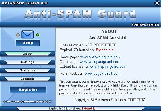 Anti-SPAM Guard Screenshot