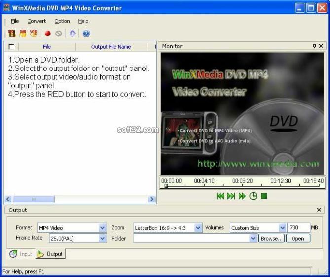 WinXMedia DVD MP4 Video Converter Screenshot 2