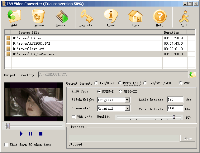 IBN Video Converter Screenshot