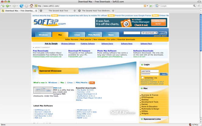 Portable Firefox Screenshot 1