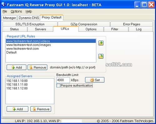 Fastream IQ Proxy Server Screenshot 3
