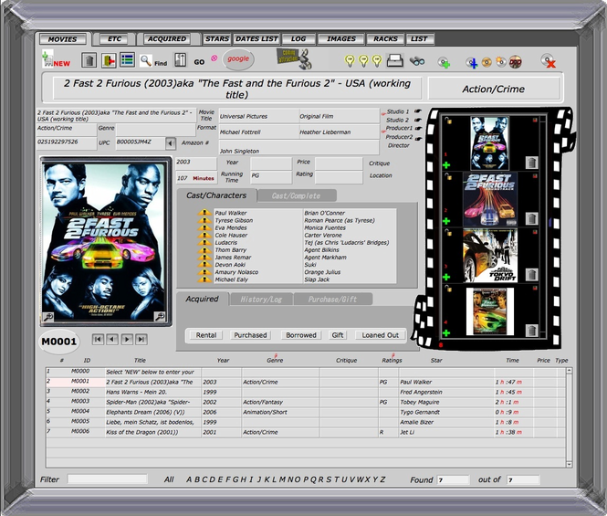 Movies Database Screenshot