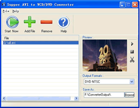Super AVI/VCD/DVD Converter Screenshot