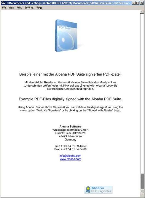 Aloaha PDF Signator Screenshot