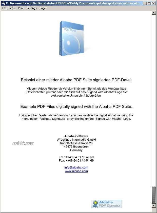 Aloaha PDF Signator Screenshot 2