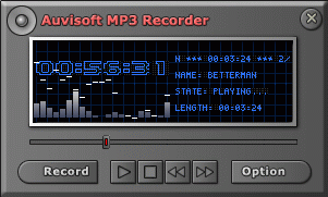 Auvisoft MP3 Recorder Screenshot