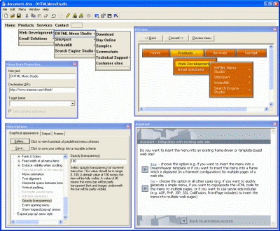 DHTML Menu Studio Professional Edition Screenshot