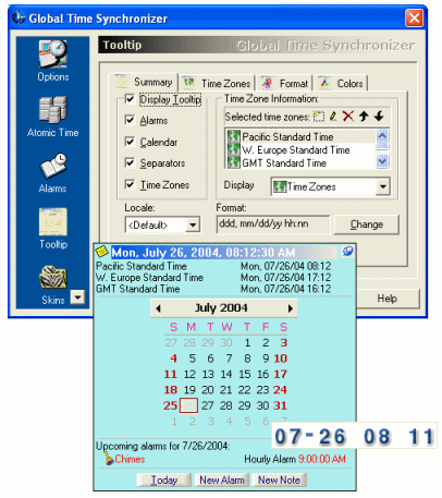Global Time Synchronizer Screenshot