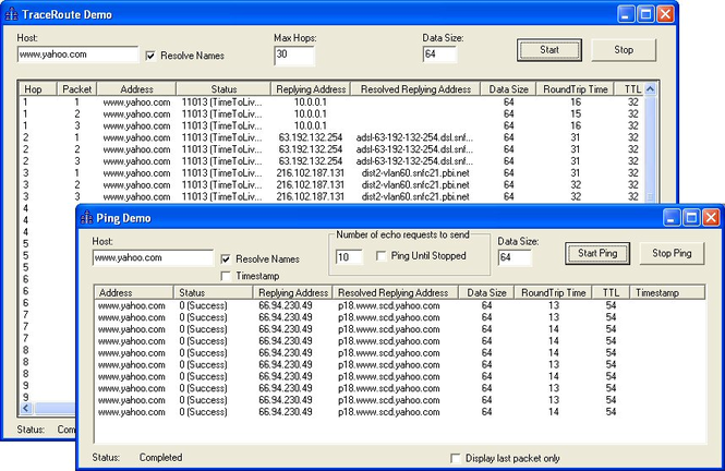 SkICMP ActiveX Control Screenshot 1