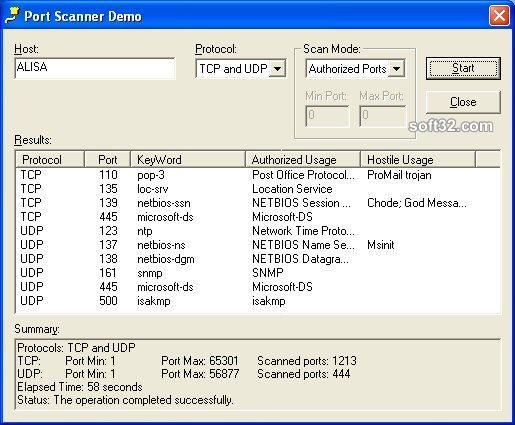 SkPortScan ActiveX Control Screenshot 3