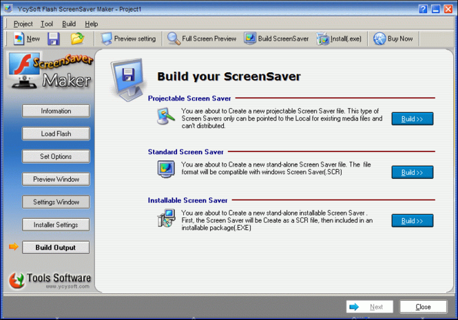 YcySoft Flash ScreenSaver Maker Screenshot