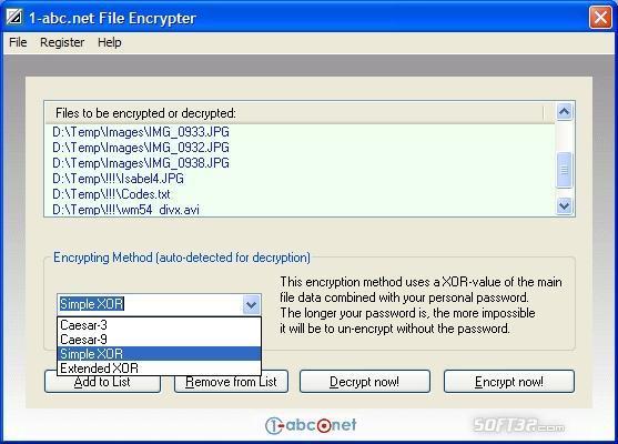 1-abc.net File Encrypter Screenshot 2