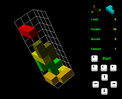 3D Tetris Screenshot 1