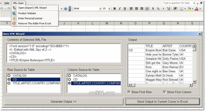 download excel import multiple xml files software 7 0