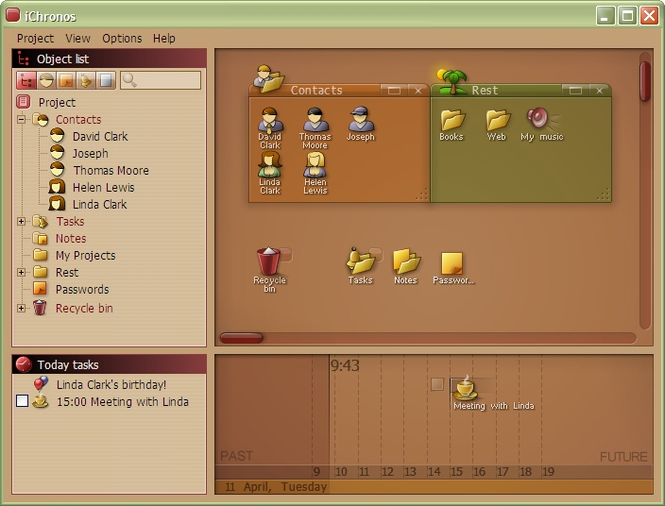 iChronos organizer Screenshot 1