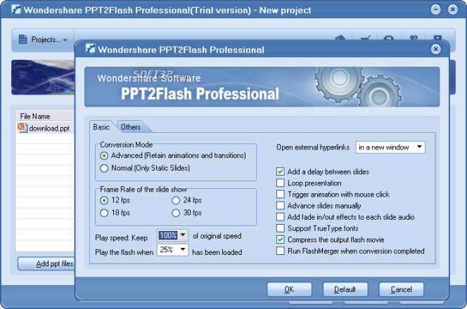 PPT2Flash Pro - PowerPoint to Flash Converter Screenshot 2