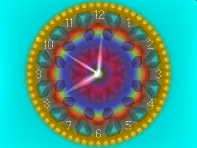 2D_Gold_Clock Screensaver Screenshot