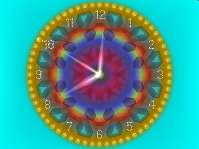 2D_Gold_Clock Screensaver Screenshot 1
