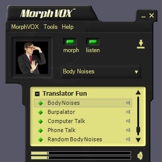 Translator Fun Voices - MorphVOX Add-on Screenshot