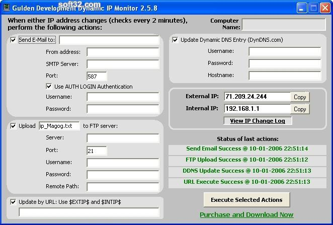 Dynamic IP Monitor Screenshot