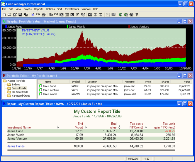 Fund Manager 2014 - Advisor Screenshot 1