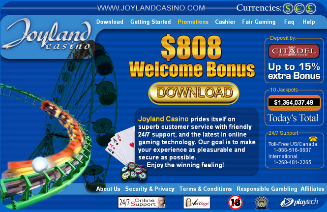 $808 JOYLAND CASINO DELUXE Screenshot