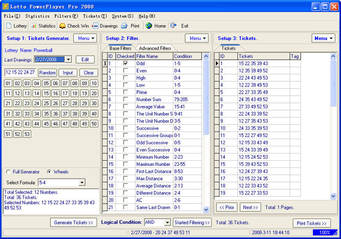 Lotto PowerPlayer Pro Screenshot